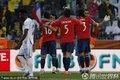 图文:洪都拉斯VS智利 智利首胜球员庆祝
