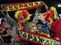 图文:西班牙2-1智利 西班牙球迷高举标语