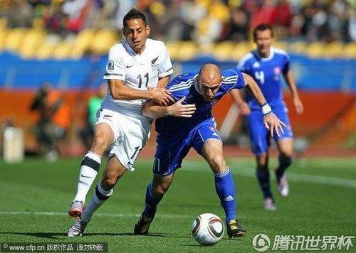 半场战报-势均力敌无入球 新西兰0-0斯洛伐克