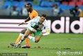 图文:科特迪瓦0-0葡萄牙 C罗遭遇铲断