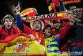 图文:西班牙2-1智利 西班牙球迷加油助威