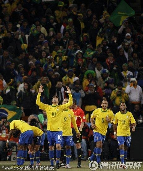 2010世界杯:巴西vs科特迪瓦