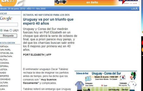 共和报:等待40年的胜利 乌拉圭力压韩国晋级