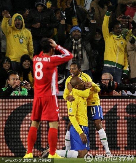 2010世界杯小组赛:巴西vs朝鲜