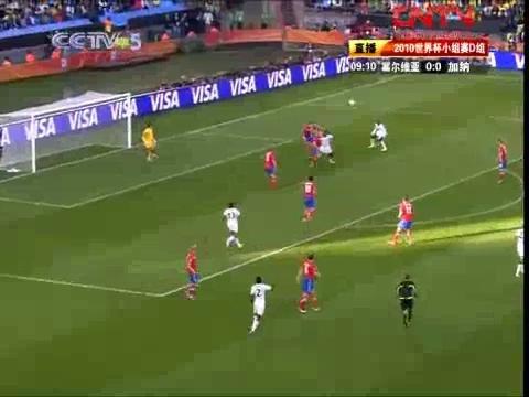 视频:世界杯D组 塞尔维亚VS加纳上半场