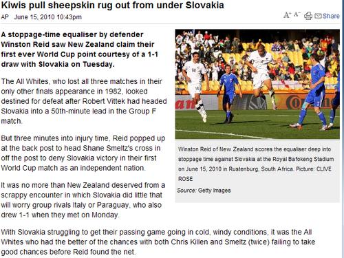 澳媒:里德一球变格局 斯洛伐克未能趁机登顶