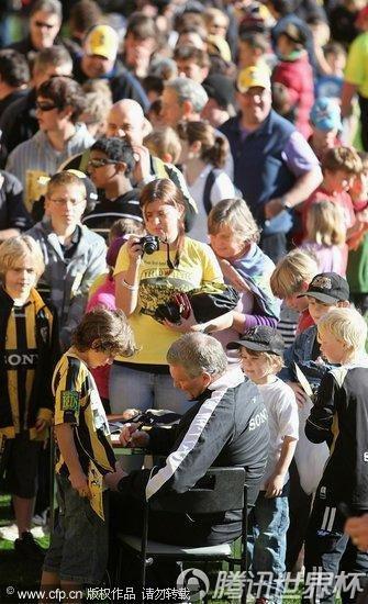 2010世界杯:新西兰国家队举行球迷见面活动