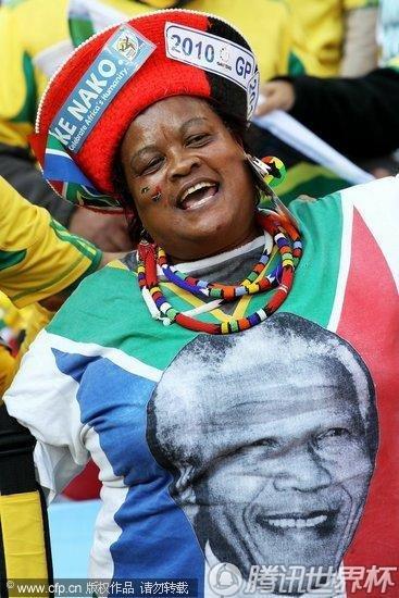 2010世界杯A组揭幕战:南非Vs墨西哥 球迷激情助威赛场