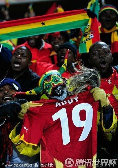 2010世界杯1/8决赛:加纳2-1加时艰难战胜美国