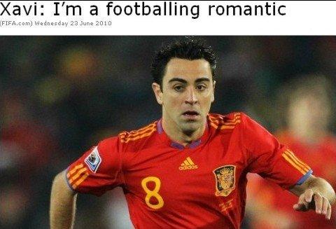 哈维:西班牙是进攻代名词 我踢球像克鲁伊夫
