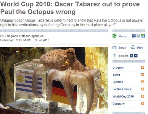 乌拉圭主帅称章鱼胡扯 弗兰不为金球荣誉而战