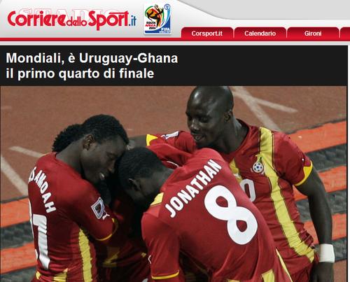 罗马体育报:加纳昂首晋级 非洲队已三进八强