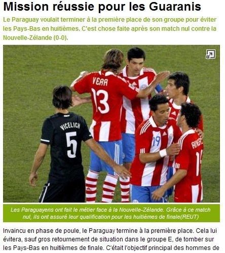 队报:巴拉圭第四次进淘汰赛 有望创造历史
