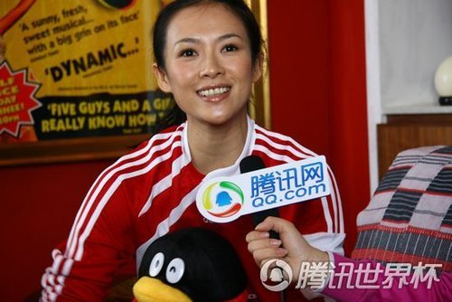 专访章子怡:小贝确实很迷人 我更喜欢梅西
