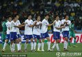 韩国队庆祝晋级