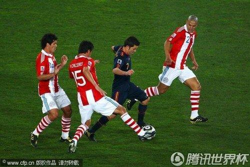 2010世界杯1/4决赛:巴拉圭Vs西班牙