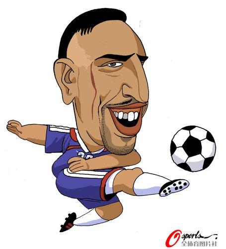 漫画:世界杯球星脸谱 里贝里