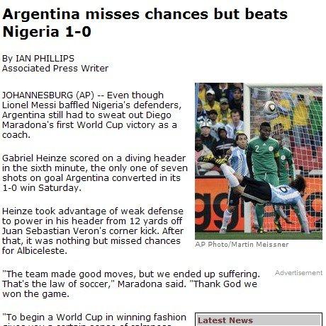 美联社:海因策成阿根廷功臣 西装老马仍疯狂