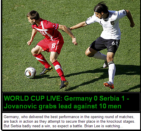 每日邮报:塞尔维亚求胜欲更强 德国队需冷静