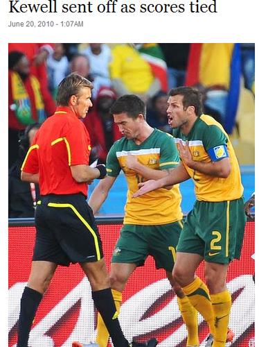悉尼先驱晨报:澳大利亚队惜平 出线形势绝望