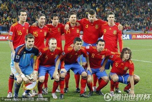 图文:西班牙vs葡萄牙 西班牙首发11人_2010南