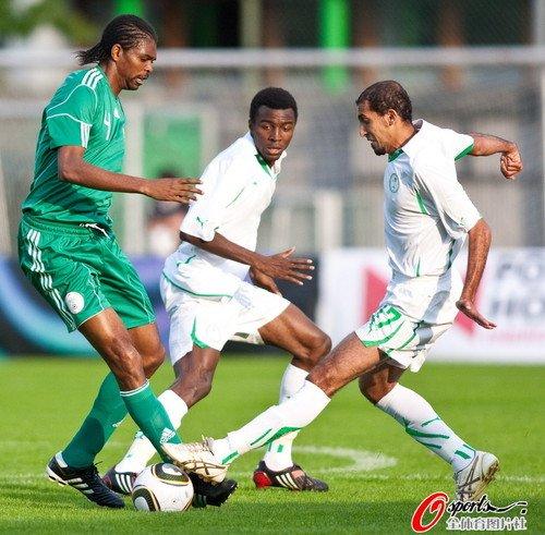 热身赛-尼日利亚0-0沙特 米克尔缺阵进攻混乱