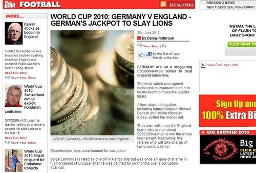 英媒:德用奖金激励球员 别忘了被停赛的裁判