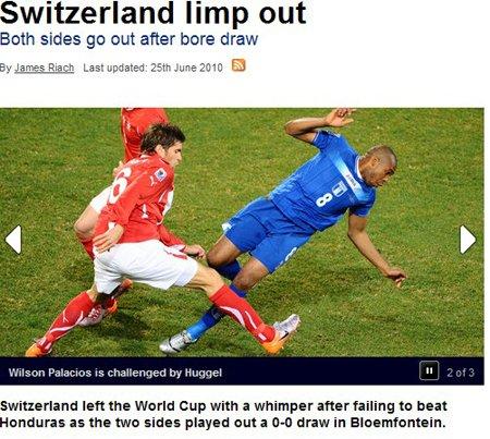 天空体育:巨大落差让瑞士很受打击