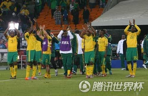 腾讯直击:南非球员低调退场 球迷失落不离去