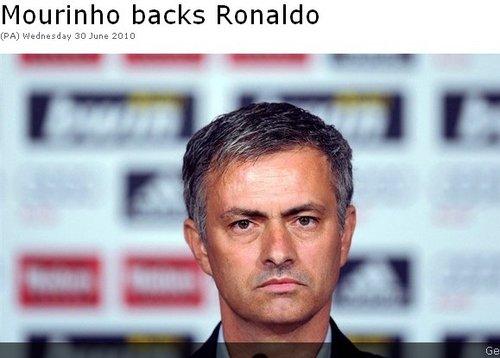 穆里尼奥:葡萄牙出局罪在主帅 C罗去度假吧