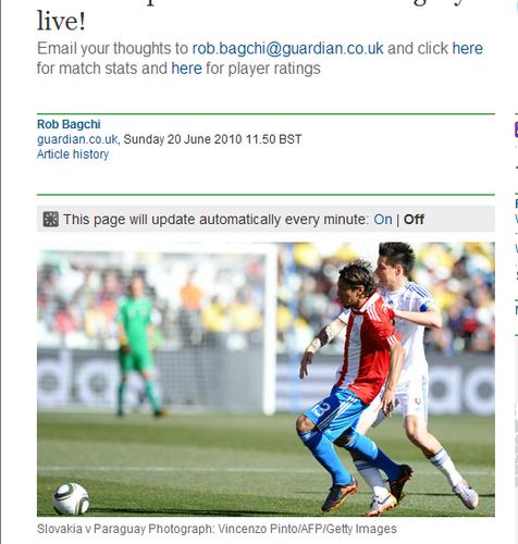 卫报:斯洛伐克无力反击 巴拉圭完胜晋级在望