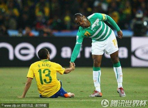 2010世界杯小组赛G组次轮:巴西3-1科特迪瓦