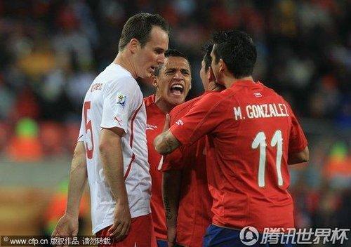2010世界杯小组赛H组次轮:智利Vs瑞士