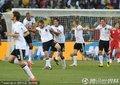 德国队员庆祝进球