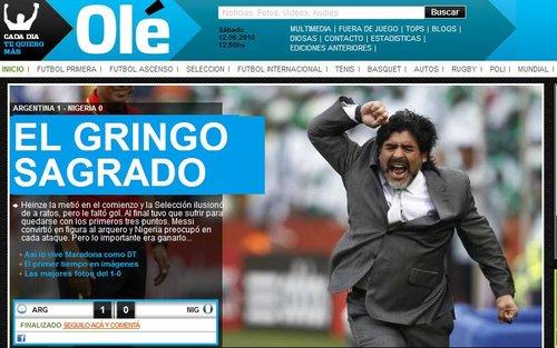 奥莱报:阿根廷1-0尼日利亚 坚实走出第一步