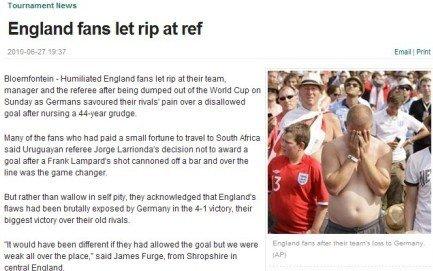 英国球迷围攻裁判下榻酒店 组委会急增加安保