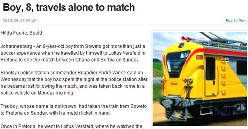 八岁男孩独自旅行看世界杯 是每个少年的梦想