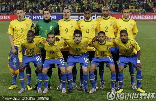 图文:巴西VS智利 巴西队赛前合影_世界杯图片
