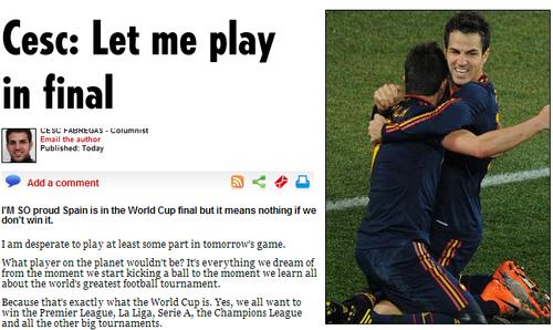 法布:与范佩西短息玩笑话成真 我好想踢决赛