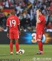 英格兰队准备开球