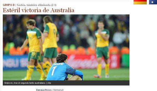 世界报:一场无用的胜利 澳遗憾向南非说再见