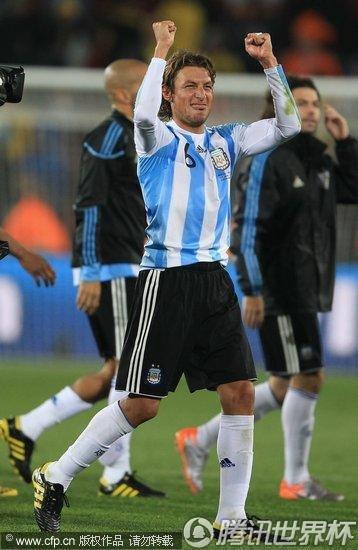 2010世界杯小组赛B组首轮:阿根廷1-0尼日利亚