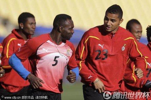 2010世界杯D组次轮前瞻:加纳6月18日训练备战