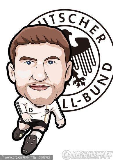 漫画:世界杯球星谱之德国新秀穆勒