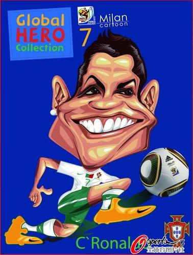 漫画:2010年世界杯球星--C罗漫画人少女画图片