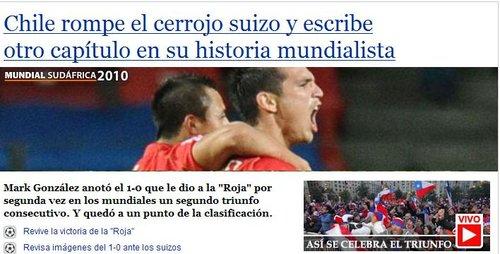 智媒Emol:智利轰开铜墙铁壁 离16强更近一步