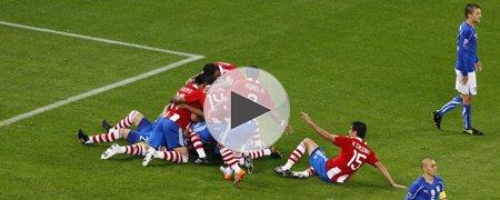 意大利1-1巴拉圭 上半场