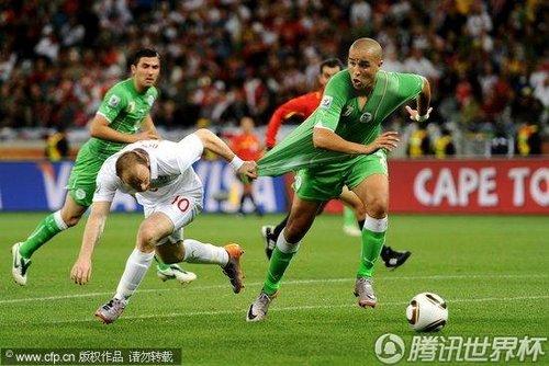 2010世界杯小组赛C组次轮:英格兰Vs阿尔及利亚