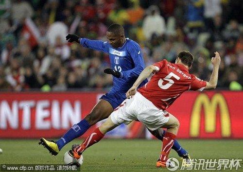2010世界杯H组末轮:瑞士0-0洪都拉斯 双方携手