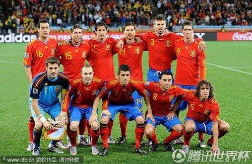 图文:西班牙1-0葡萄牙 西班牙首发阵容_2010南